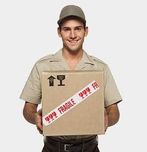 fragile delivery man into new york apartment