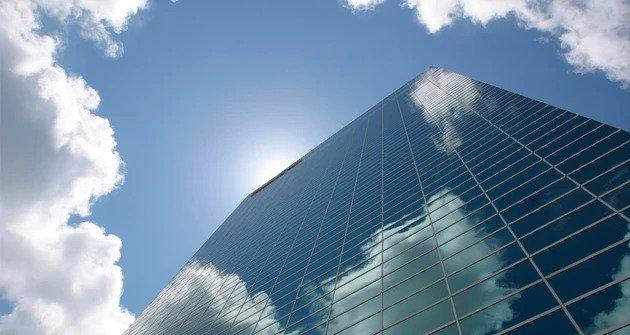 High glass building at Hudson Yards