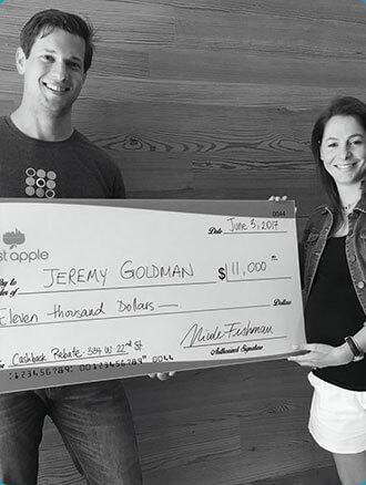 cash back check in nyc to Jeremy Goldman