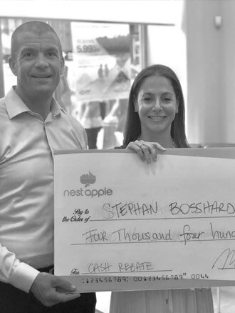 cash back check to Stephen Bossman in New York Real Estate
