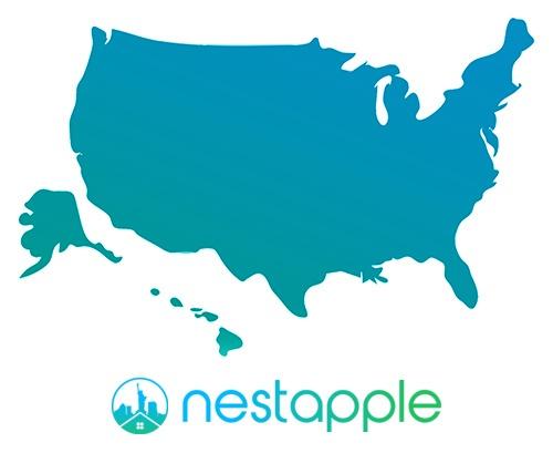 Map of USA and NestApple - NestApple NYC cashback rebate
