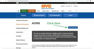 ACRIS to search NYC Property