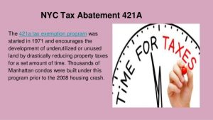 nyc-tax-abatement-421a - Tax Benefits for Investment Properties