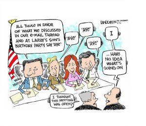 cartoon about Board meetings
