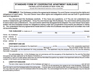 can a co op board evict a sublet tenant